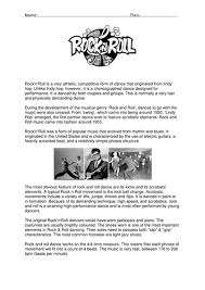 rock and roll worksheet by tamsindance teaching resources tes