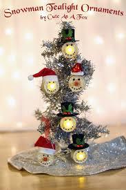 snowman tea light ornaments by as a fox tea lights snowman