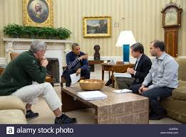 president barack obama meets in the oval office with chief of