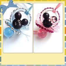 minnie and mickey mouse pacifiers for baby by marshmallowfavors