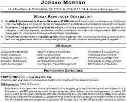 Sample Resume Of Hr Generalist by Hr Generalist Responsibilities And Achievements