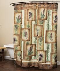 Bathroom Shower Curtain Rod Bathroom Rustic Shower Curtains Moose Pinecone Designs