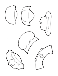 mailman hat coloring page helping hands in the community ideas puppets and songs classroom