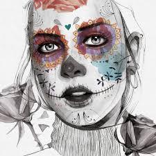 arte art catrina halloween illustration