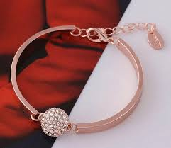 swarovski gold plated bracelet images Swarovski elements 18k rose gold plated lady diamond bangle jpg