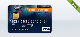 free psd credit card template psd file free