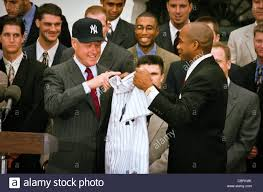 Hillary Clinton Hometown Ny by President Bill Clinton Wearing A New York Yankees Baseball Cap
