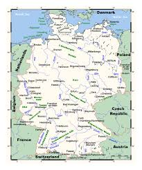 Map Og Germany by Detailed Map Of Germany With Major Cities Germany Europe