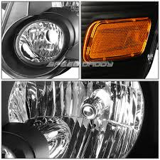black headlight corner yellow oe fog light for 06 10 ford explorer
