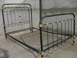 Metal Vintage Bed Frame White Iron Black Frame â Allin The Details Popular Image Of