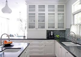 Glass Cabinet Doors For Kitchen Awesome Glass Kitchen Cabinet Doors White Kitchen Cabinets With