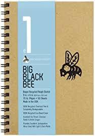 amazon com bee paper bogus sketch pad 18 inch by 24 inch arts