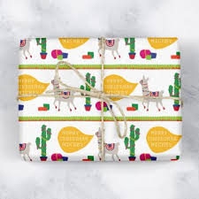 llama wrapping paper personalised wrapping paper handmade christmas co
