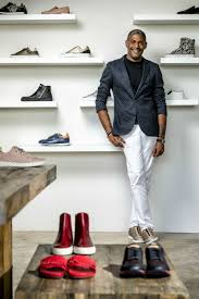 sneaker designer fabrice tardieu sells his designer sneakers and shoes in river