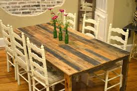 build a rustic dining room table 13 easy and cost effective diy pallet dining tables shelterness