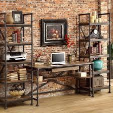 bureau ordinateur bois bois américain fer forgé tables de bureau ordinateur de bureau