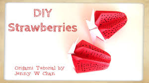 diy origami strawberry paper crafts kids strawberries home
