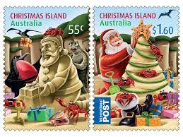christmas island christmas set of stamps christmas stamps