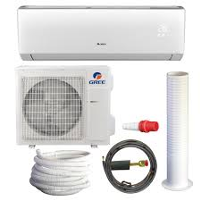 ductless mini split cassette gree livo 33 600 btu 3 ton ductless mini split air conditioner