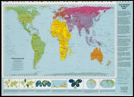 Map Projection Peters World Map Digital Commonwealth