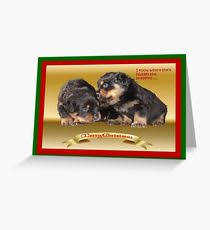 rottweiler greeting cards redbubble
