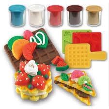 pate a modeler cuisine pâte à modeler argile plasticine gaufre die set les enfants de