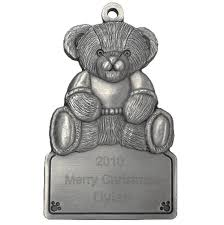 engraved teddy bears teddy engraved pewter ornament
