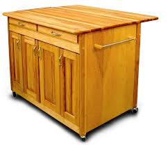 movable kitchen islands rolling on wheels mobile catskill butcher block work center plus drop leaf breakfast bar 42x38