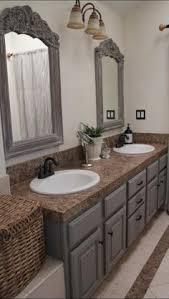 easy way to update bathroom paint vanity and frame mirror love