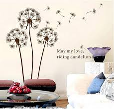 amazon com 1 x dandelion flowers tree butterflies removable vinyl amazon com 1 x dandelion flowers tree butterflies removable vinyl wall stickers mural home decal kids room decor awqe home kitchen