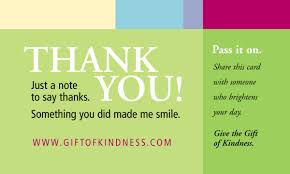 free thank you kindness cards faithful saver