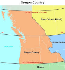 map of oregon country 1846 the mexican american war 1846 1848 us history i os collection