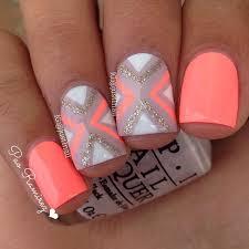 80 nail designs for short nails orange nail designs neon orange