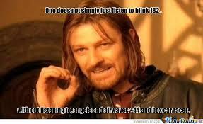 Blink 182 Meme - blink 182 on does not simply by psweeneyjnr meme center