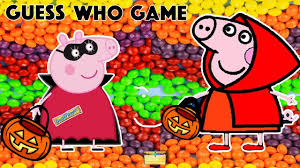 peppa pig halloween trick or treat game surprise toys candy