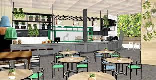 Restaurant Reception Desk by Restaurant Concept Eb Interiors