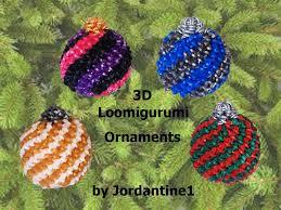 new 3d loomigurumi amigurumi christmas ball spiral ornament