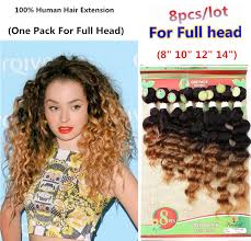 14 inch hair extensions 8 pcs lot for hair extension curly hair