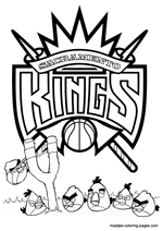 new york knicks coloring pages sacramento kings nba coloring pages