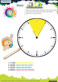 colours of time 1 math worksheet for grade 3 free u0026 printable