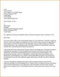 Job Resume In Spanish by Spanish Teacher Cover Letter