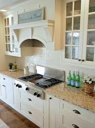 White Cabinet Kitchen Kitchen Captivating Kitchen Backsplash Off White Cabinets Over
