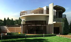 different house designs elegant modern house design green garden round style architecture