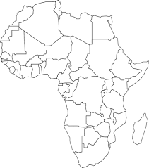 africa map drawing outline map of africa with countries coloring page free