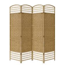 Wicker Room Divider Wicker Made Room Divider 4 Panels Eazy Goods