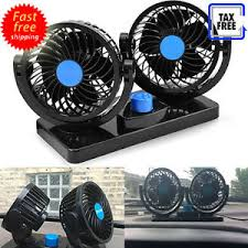 plug in car fan electric car auto air cooler conditioner 12v plug in vehicle dash