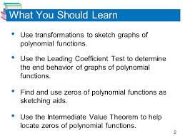 polynomial functions of higher degree ppt video online download