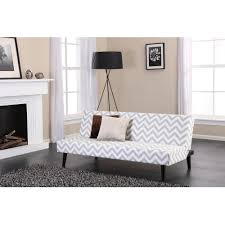 Retro Futon Covers Kinsley Chevron Futon Gray And White Walmart Com