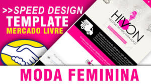 speed design moda feminina template mercado livre by lucas