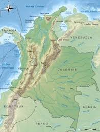 Map Of Colombia File Colombia Relief Location Map Cropped Svg Wikimedia Commons